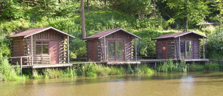 Log Fishing Cabins